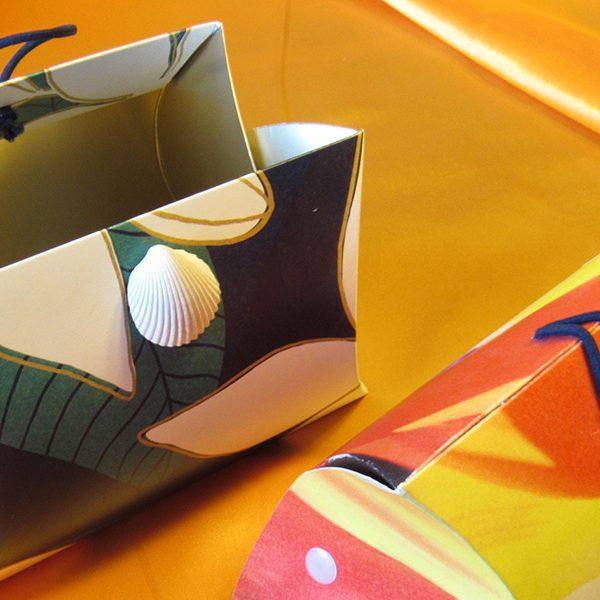 シェルアクセサリー付バッグ型パッケージ